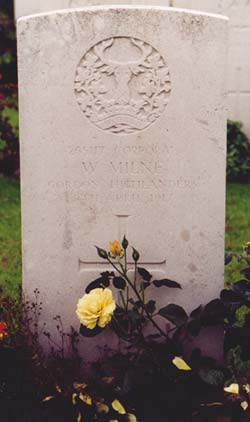William milne roclincourt valley cemetery for Rough and milne